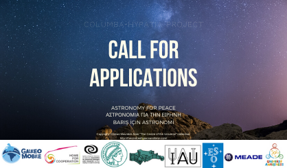 Call for Applications for Columba-Hypatia: Astronomy for Peace